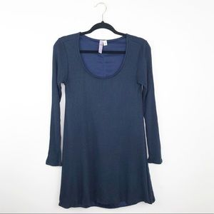 Alya Francesca's collection navy waffle knit tunic